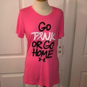 NWT UA breast cancer tee!!